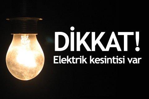Mahallemizde Elektrik Kesintisi Uygulanacağı Bildirildi.