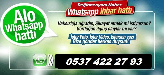 Whatsapp İhbar Hattımız