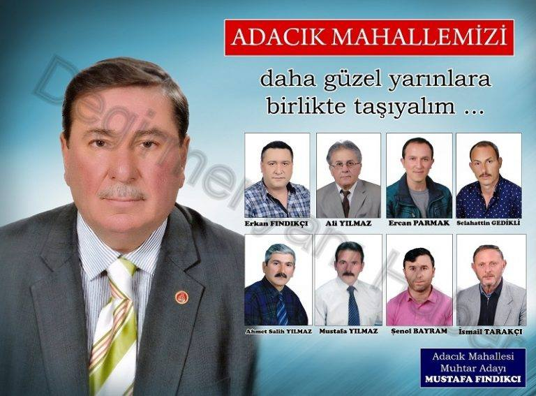 Adacık Mahallesi Muhtarı Mustafa Fındıkçı'dan Seçmenlerine Teşekkür Mesajı…
