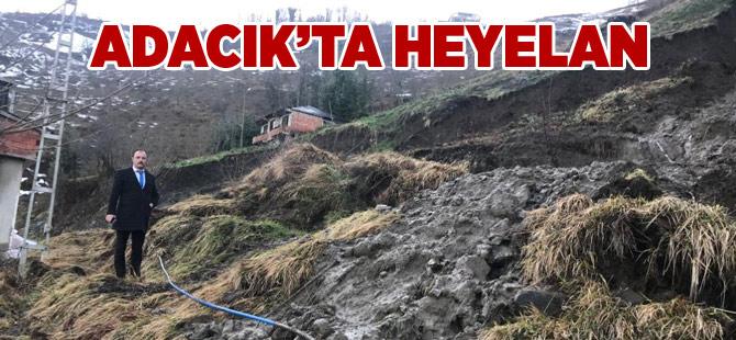 Baltacı'da Heyelan